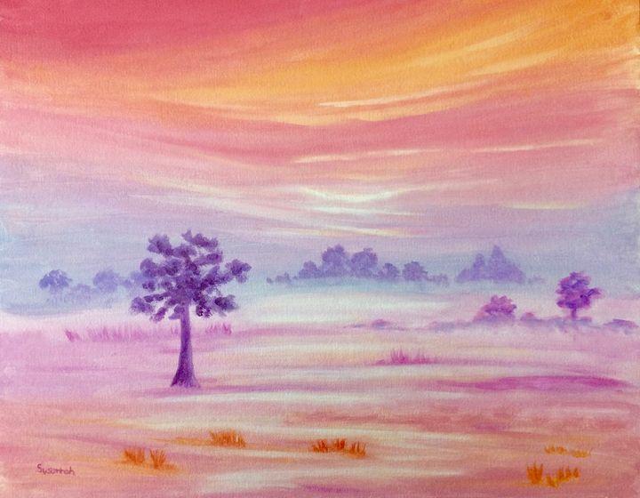 Foggy Fields II - Susannah Helene Art