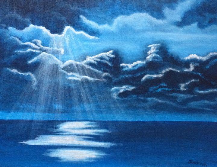 Cloudy night - Susannah Helene Art