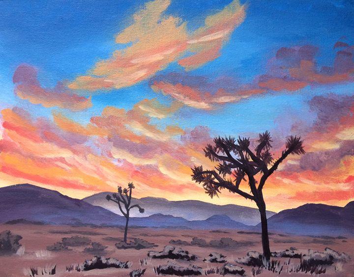 Desert Sunset - Susannah Helene Art