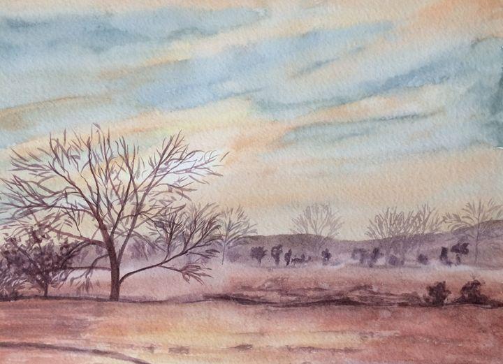 Foggy Fields - Susannah Helene Art