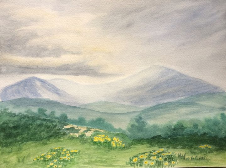 Misty Mountains - Susannah Helene Art