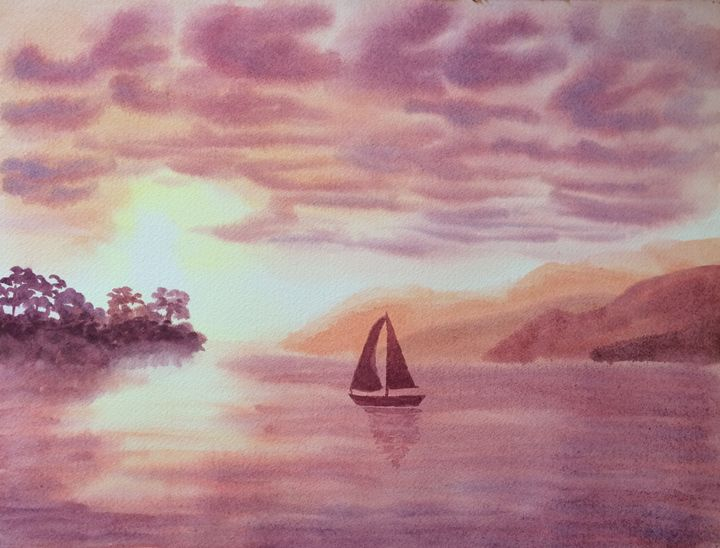 Sunset Cruise - Susannah Helene Art