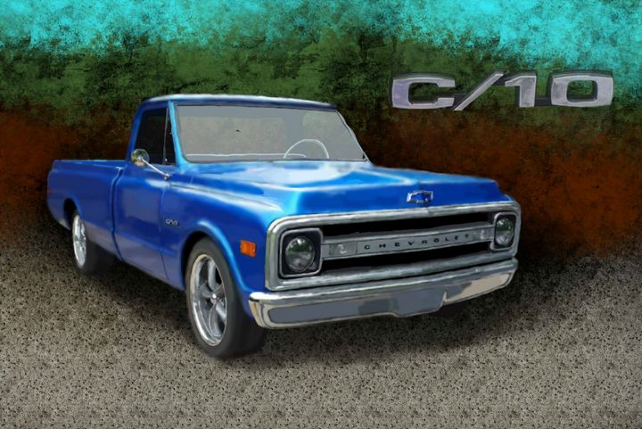 1970 Cevrolet C10 Pickup - JPAutoArt