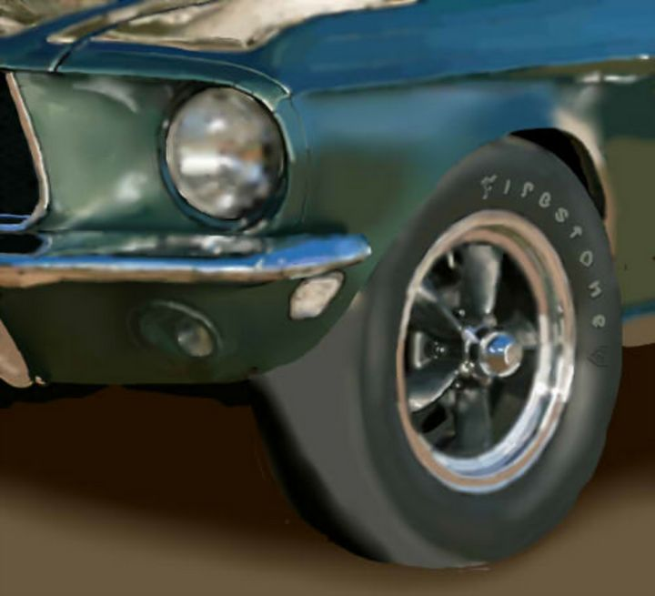 1967 mustang closeup - JPAutoArt