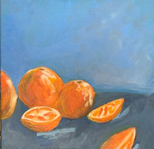 Orange still life - Inspired Abstracts