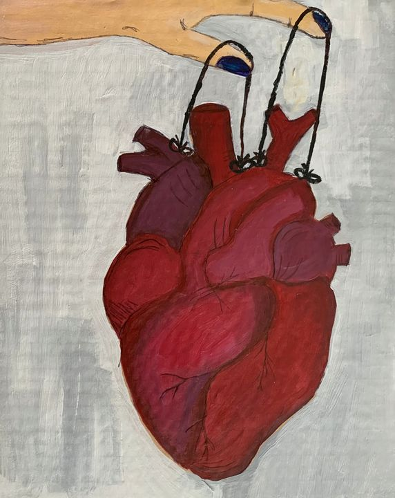 Heart on a String, Valentines gift - Inspired Abstracts