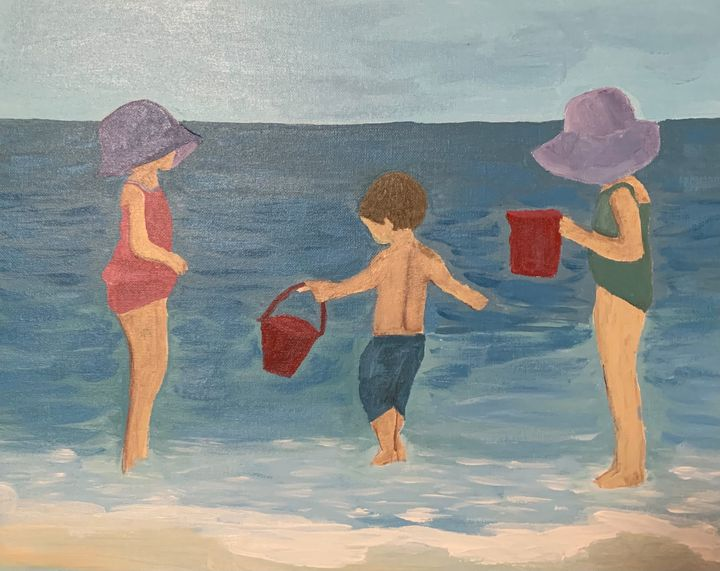 Kids at the Beach - Inspired Abstracts
