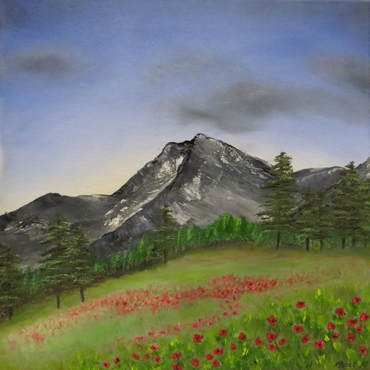 Mountainside Poppies - Maral Mouradian