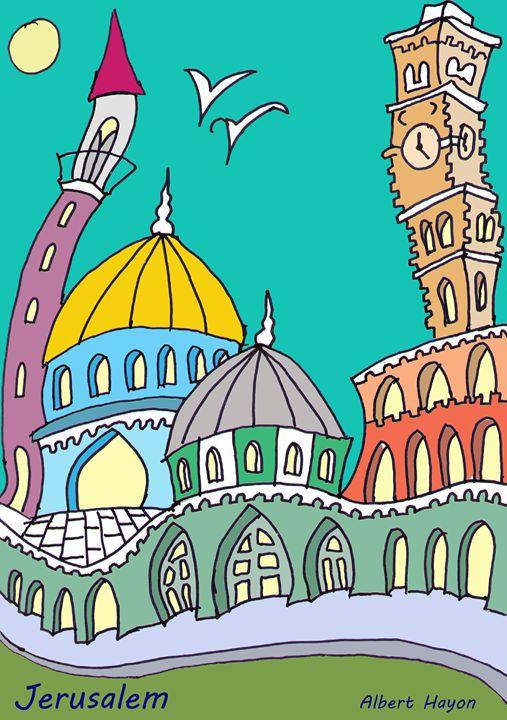 jerusalem - old city - Virgo Art