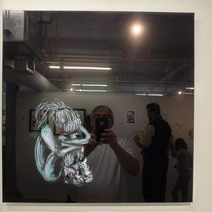 "Plexi mount copy of ""Fading"" image"