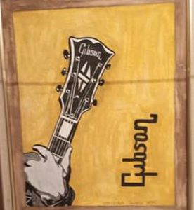 Gibson guitar painting