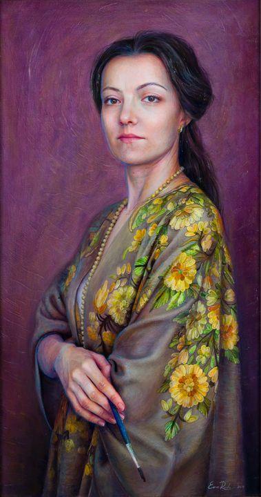 Self-portrait - Eva Radu Artist