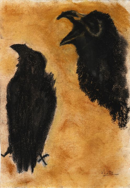 Crows Cawing - Sami R Hall Art