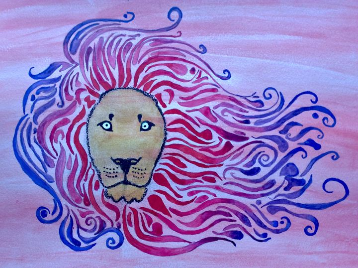 Abstract lion - AH art