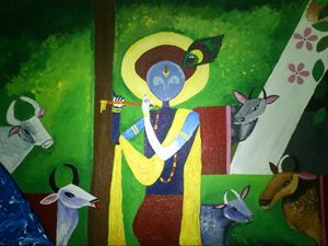 Enchanting Lord Krishna