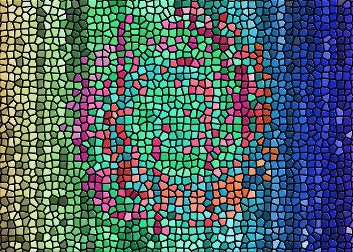 Mosaic of a swirled pattern - Pura Vida Vision