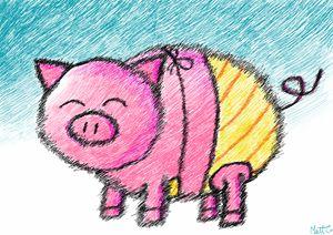 Little Piggy in a Bikini