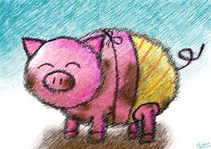 Muddy Little Piggy in a Bikini