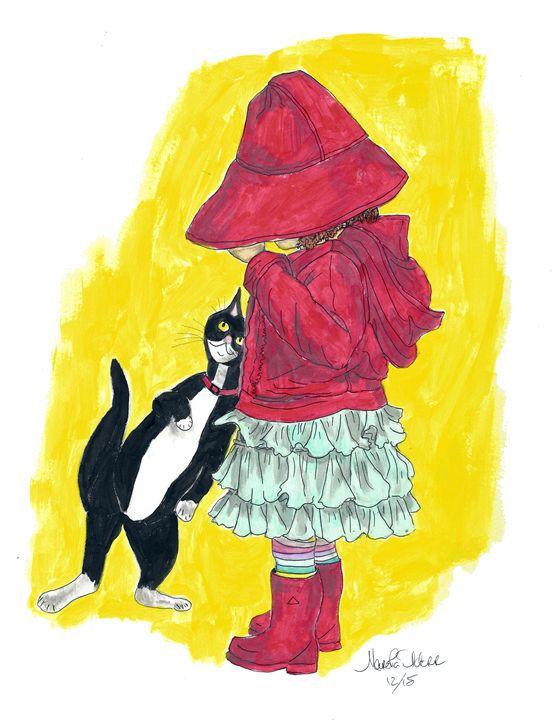 Girl with Cat Poppit - Punky Poppits