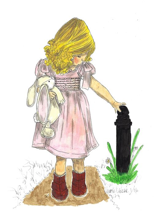 Girl with Bunny Poppit - Punky Poppits