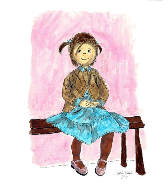 Sitting on A Bench Poppit - Punky Poppits