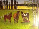 """Horses 30"""" x 36"""