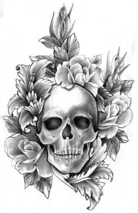 Skull and Roses - Anna's Treasures