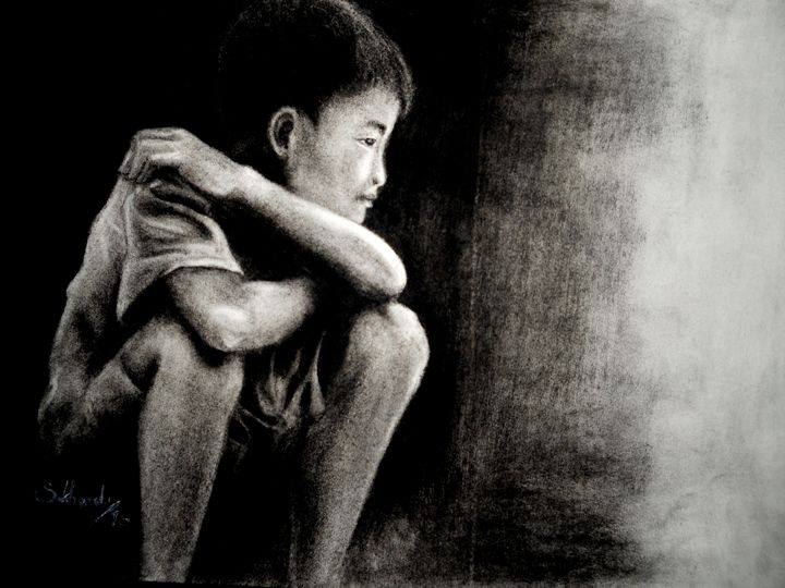 A Boy with Overweighted Thinking - Sukhendu's Gallery
