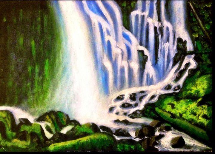 Waterfall - Art by Anne-Marie Keller