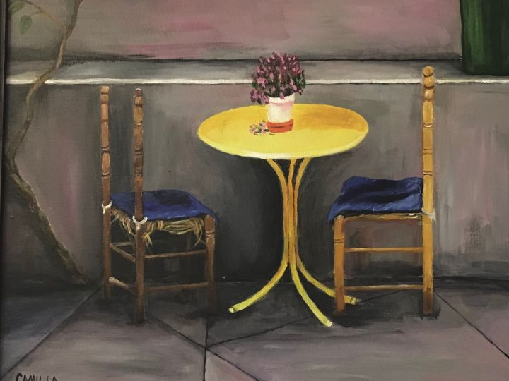 Chair without back - Camilla's Paintings