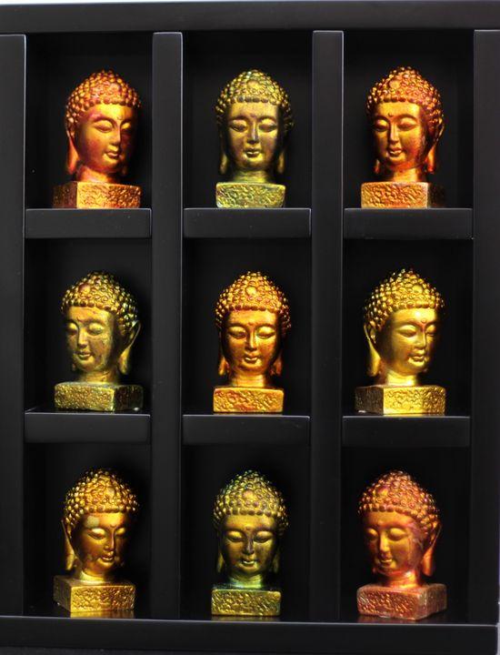 9 Buddha - Ông Thê'Huy (Vietnam, city saigon, now HCMC)