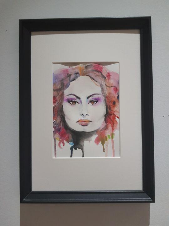 Sophia Loren Portrait - SuzanSumerArtwork