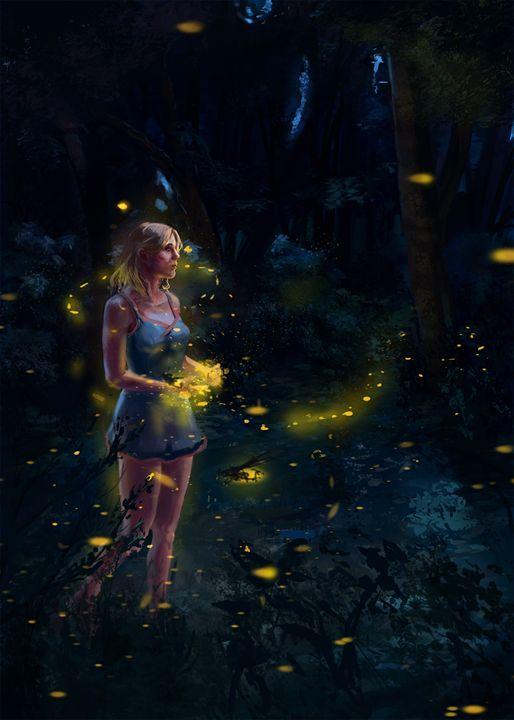 Fireflies - Larsh Digital Art