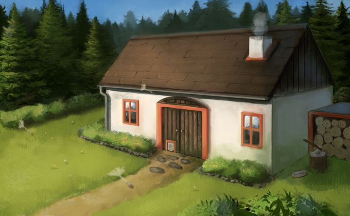 Cottage - Larsh Digital Art