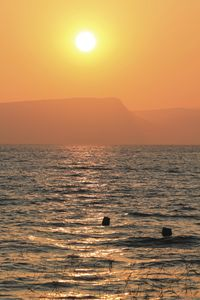 Sunset in the Galilee sea.