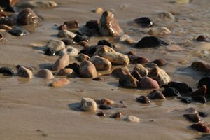 Stones in the sea.