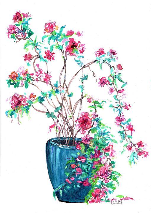 Watercolor, aquarelle, botanique - voicivoilà