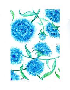 Watercolor/ aquarelle, botanique