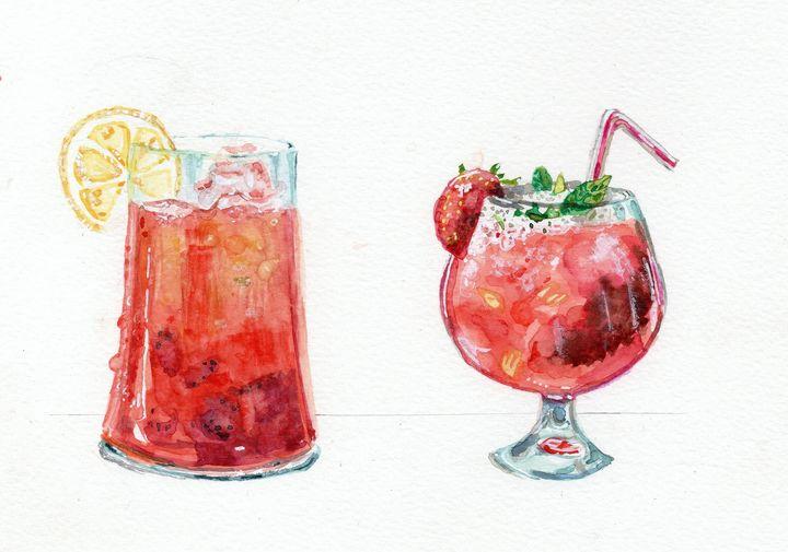 Watercolor cocktails - voicivoilà