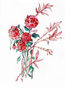 watercolor/Aquarelle,  fleur
