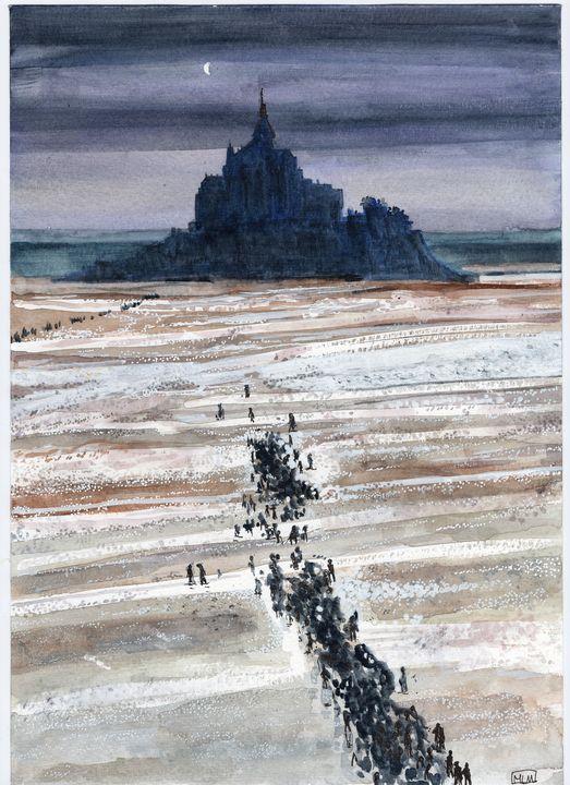 watercolor, aquarelle, landscape - voicivoilà