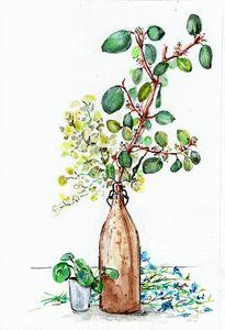 watercolor aquarelle feuillage