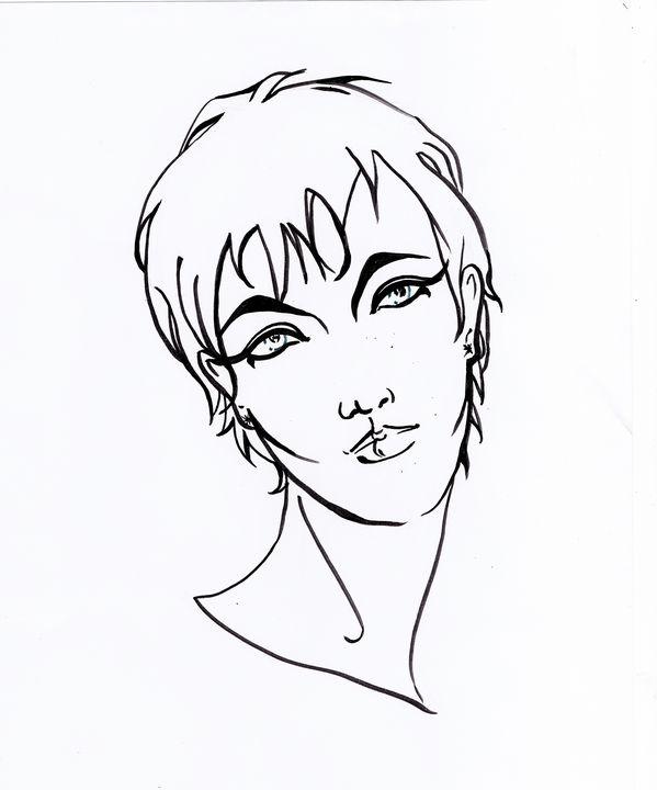 Drawing,woman portrait, - voicivoilà