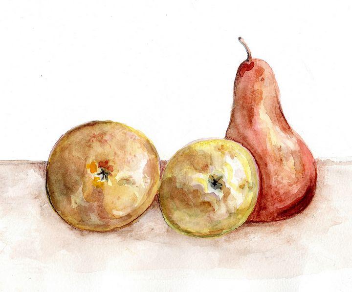 watercolor Aquarelle fruits - voicivoilà