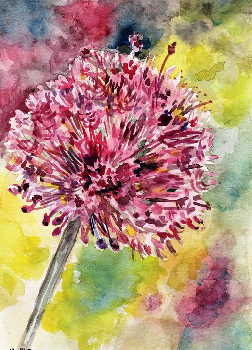 watercolor, aquarelle,fleur, - voicivoilà