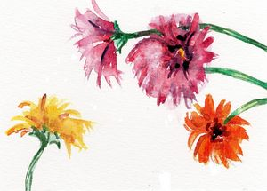 watercolor,aquarelle,postcard