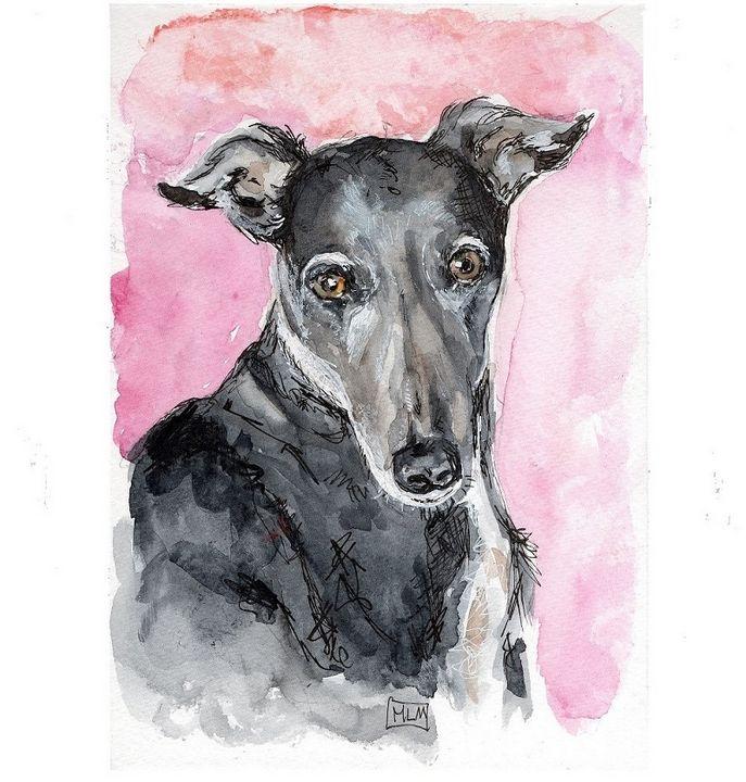 Watercolor/ aquarelle  chien - voicivoilà
