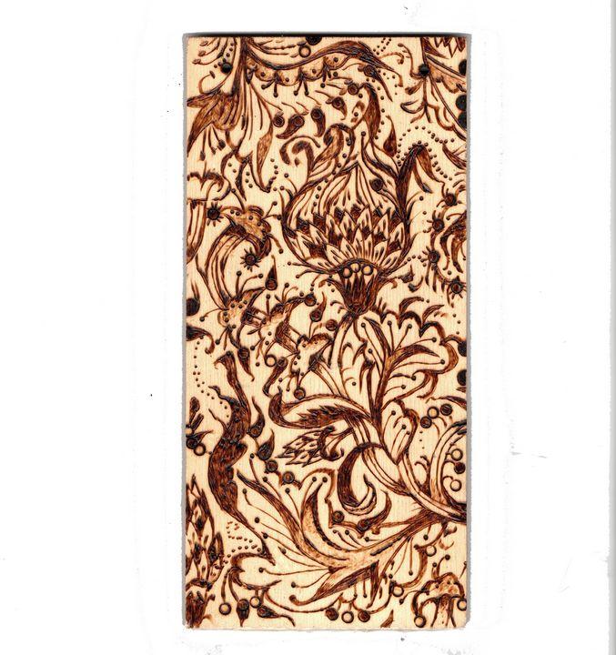 Pyrography Pyrogravure dessin floral - voicivoilà