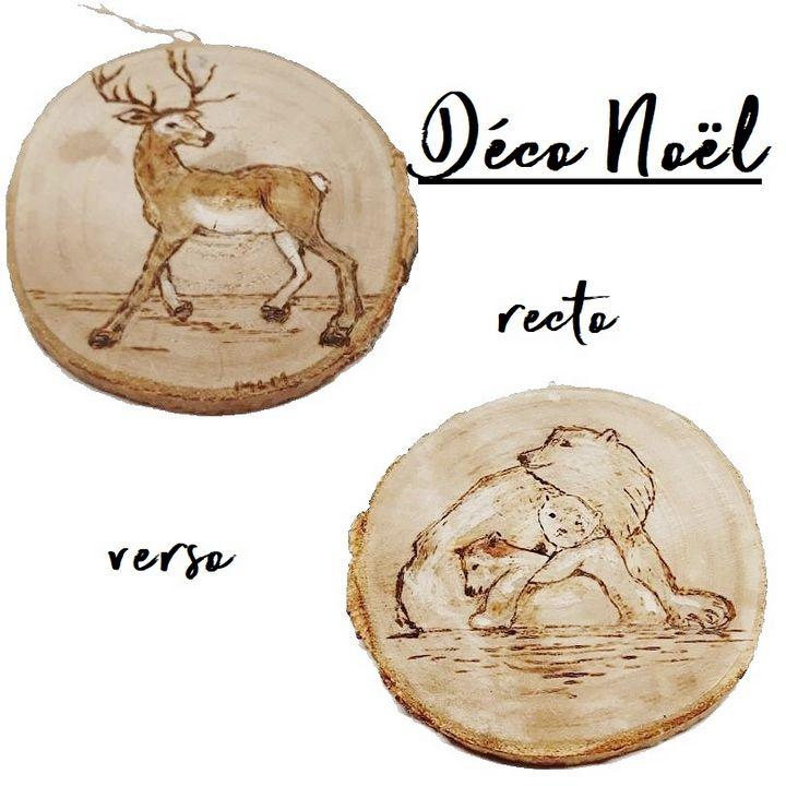 Christmas , déco Noël, bois naturel - voicivoilà