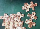 Puzzle, woodburning, déco, pyrogravu
